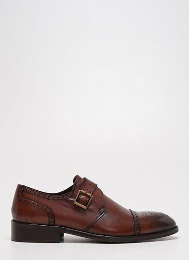 D by Divarese Deri Tokalı Klasik Ayakkabı Kahve